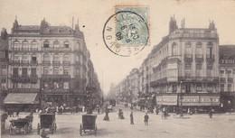 59. LILLE. CPA.  ANIMATION. LA RUE NATIONALE. ANNEE 1906 - Lille