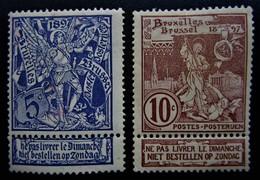 B2891 - Belgium - 1896 - Mich. 64-65 - MLH - 1893-1900 Schmaler Bart