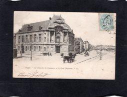 82900    Francia,  Dieppe,  La Chambre De Commerce Et Le Quai Duquesne,  VG  1905 - Dieppe