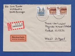 Bund R-Brief Einschreiben MiF 2x 1348, 1665 - BEVERUNGEN - [7] Federal Republic