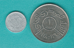 Yemen - Arab Republic - FAO - Food For All - AH1398 (1978) - 1 Fils (KMY43) & 1 Rial (KMY44) - Yémen