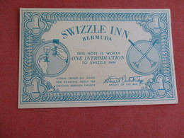 Swizzle Inn   Introduction Note  Bermuda Ref 3128 - Bermuda