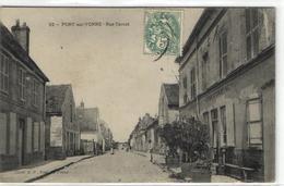 """1 Cpa Pont Sur Yonne - Rue Carnot """"café Cartereau"""" - Pont Sur Yonne"""