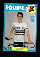 C.P.S.M. DE L EQUIPE Z....GREG LEMOND ...DEDICACEE... - Cyclisme