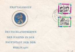 DDR FDC 1964 German Youth Meeting, Berlin    (0032) - FDC: Enveloppes