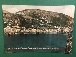 Cartolina Panorama Di Canneto Lipari - Con La Sua Montagna Di Pomice - 1954Ca. - Messina