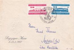 DDR FDC 1957 Leipzig Spring Fair  (0032) - FDC: Enveloppes