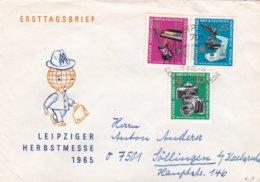 DDR FDC 1965 Leipzig Fall Fair  (0032) - FDC: Enveloppes