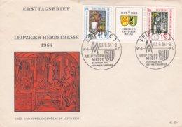 DDR FDC  Leipzig Fall Fair, 1964 (0032) - FDC: Enveloppes