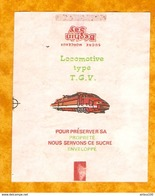 LOT DE 7 EMBALLAGES DE SUCRE BÉGHIN SAY - LOCOMOTIVE TGV BB AUTRE - TRAIN SUGAR ZUCKER ZUCCHERO - Chemin De Fer