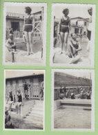 VILLEURBANNE (69), Août 1932 : La Piscine, 4 Photos - Lieux