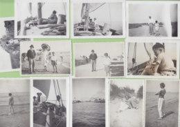 LE GRAU DU ROI , Sept. 1933 : Plage, En Bateau De Pêche, Dunes, La Piscine, 12 Photos - Lieux