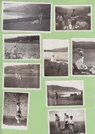 BELLEFONTAINE (Jura), Août 1933 : 9 Photos Lac Des Mortes, Pêche, Signal De Bellefontaine, 1 Photo Lac De Bonlieu - Lieux