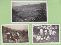 BELLEFONTAINE (Jura), Août 1933 : 3 Photos, Route Qui Y Conduit De Morez, Enfants... - Lieux