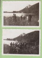 BONLIEU (Jura) Août 1933 : 2 Photos Du Lac De Bonlieu. - Lieux