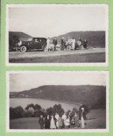 LE FRASNOIS, Août 1933 : 2 Photos, Vues Sur Le Lac De Narlay - Lieux