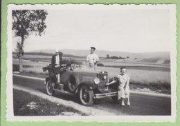 Route De PONTARLIER à CHAMPAGNOLLE, 18 Août 1933 : Une Voiture Berliet Type VI Torpedo - Lieux