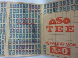 """Tessera Con Bollini """"SUPERMERCATI A & 0"""" Germania Anni '60 - Non Classificati"""
