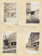 TROYES, Juin 1932 : 14 Photos, Les Chantiers De La Société La Laborieuse, Quai Dampierre. - Lieux