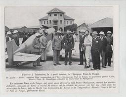 Arrivée à Tananarive équipage Finat De Forges Capitaine Dire Hennebique Madagascar 1935 - Alte Papiere