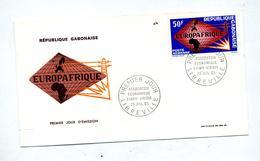 Lettre Fdc 1965 Euroafrique - Gabon (1960-...)