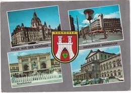 Hannover: OPEL REKORD P2 - Rathaus - MERCEDES W111, VW 1200 KÄFER/COX, FIAT 500 - Oper - FORD TAUNUS P2 - Kröpcke - Toerisme
