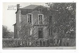 LA CELLE  (cpa 03)  Mairie Et Maison D'Ecole ## Très RARE ##   -  L 1 - France