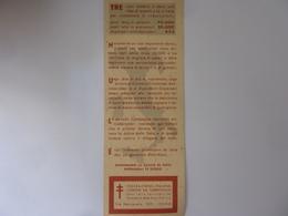 """Segnalibro """"FEDERAZIONE ITALIANA CONTRO LA TUBERCOLOSI"""" Anni '50 - Segnalibri"""