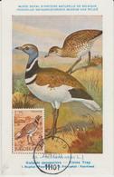 Yougoslavie Carte Maximum Oiseaux 1972 Outarde 1346 - Cartes-maximum