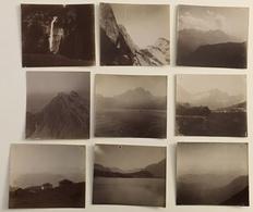 Alpes. Suisse. Glacier. Berne. Cascade. Haute-Savoie. Vers 1900. 29 Photos. Montagne. - Photos