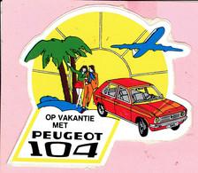 Sticker - Op Vakantie Met PEUGEOT 104 - Autocollants
