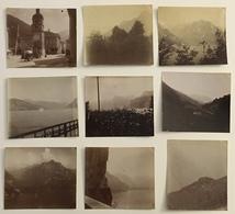 Alpes. Suisse. Montagne. Lucerne. Interlaken. Altdorf. Vers 1900. 35 Photos. Lac. Église. Cascade. - Photos