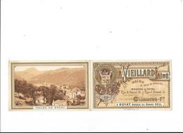 CLERMONT FERRAND - ROYAT  (cpa 63)  Carte (double)  Commerciale A.VIEILLARD Aîné   ## Très RARE ##   -  L 1 - Clermont Ferrand