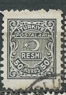 Turquie - Service - Yvert N°10 Oblitéré  - Abc 30507 - 1921-... République