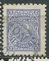Turquie - Service - Yvert N°7 Oblitéré  - Abc 30508 - 1921-... République