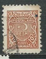 Turquie - Service - Yvert N°6 Oblitéré  - Abc 30509 - 1921-... République