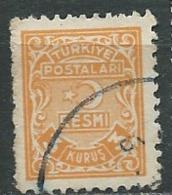 Turquie - Service - Yvert N°4  Oblitéré  - Abc 30510 - 1921-... République
