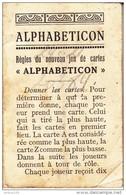 REGLES DU JEU ALPHABETICON - Anglais Et Allemand - 2 Scans - - Altre Collezioni
