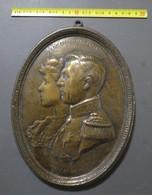 Lade - HH MM ALBRECHT EN ELISABETH - HULDE EN DANK - BRONS - BRONZE - 1.325 GRAM - Bronzes