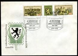 13612) DDR - Mi 2153 / 2154 - FDC - Briefmarkenausstellung Zusammendruck - FDC: Enveloppes