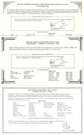 Concorde 1979/82 -  3 Certificats De Vol : Air France: Cardiff à Paris & British Airways: Glasgow & Cardiff à Amsterdam - Certificats De Vol