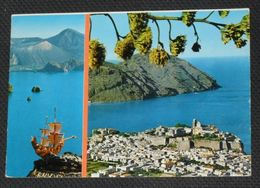 MESSINA - Lipari - Isole Eolie - Nave Galeone - 2 Vedute - 1977 - Messina