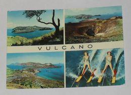 MESSINA - Eolie - Isola Di Vulcano - 4 Vedute - Sci Nautico / Acquatico / Water Ski - 1962 - Messina