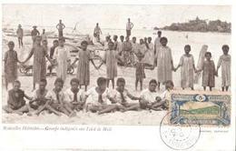 NOUVELLES HEBRIDES    GROUPE INDIGENES SUR L 'ELOT DE MELE - Fidji