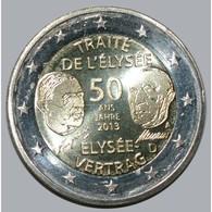 ALLEMAGNE - 2 EURO 2013 - TRAITE DE L'ELYSEE - ATELIER INDETERMINE- SUP/FDC - - Allemagne
