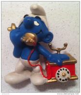 FIGURINE SCHTROUMPF TÉLÉPHONE © PEYO 1980 SCHEICH - 2 Scans - - Figurines