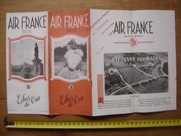 Juin 1938 Dépliant 6 Echos De L' AIR FRANCE Avion Plane AVIATION Corse Indochine - Aviation Commerciale