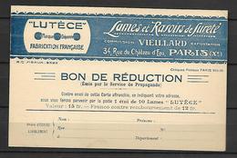 FRANCE   -   CPSM.  Publicité  Lames Et Rasoirs VIEILLARD à Paris.  Peu Courant  !!!!! - France