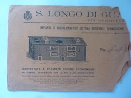 """Busta Pubblicitaria """"S. LONGO IMPIANTI DI RISCALDAMENTO"""" 1910 - Pubblicitari"""