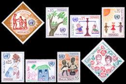Monaco, 1963, Rights Of The Child, United Nations, MNH, Michel 718-725 - Monaco